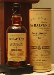 Balvenie 12 Year Old Double Wood Singe Malt Scotch Bottle