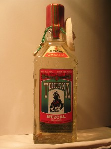 Bottle of Tehuana Silver Mezcal