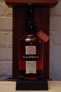 Bottle ofEvan Williams Single Barrel Bourbon 2002