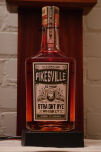 Bottle of Pikesville Straight Rye Whiskey