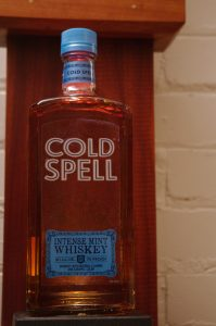 Bottle of Cold Spell Intense Mint Whiskey