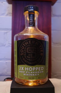 Bottle of Southern Tier 2X Hopped Hop Flavored Whiskey