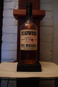 Bottle of Deadwood Rye Whiskey