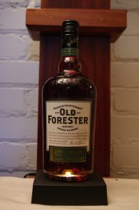 Bottle of Old Forester 100 Proof Rye