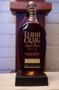 Bottle of Elijah Craig Barrel Proof Lot A120