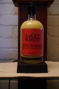 Bottle of Last Shot Orange Creme Lightning Liqueur