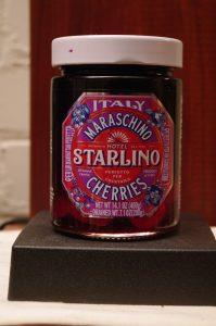Bottle of Starlino Maraschino Cherries