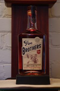Bottle of Heaven Hill 5 Brothers Bourbon